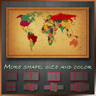 Vintage World Map Abstract Modern Contemporary Canvas Wall Art Deco More Size