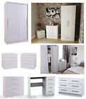 New Camden White High Gloss Bedroom Furniture Units Ash Wood Effect Carcass
