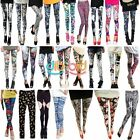 Fashion Retro Korean Womens Colorful Print Leggings Tights Pants 24Styles