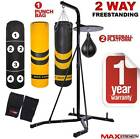 3 Ways Free Standing Hanging Boxing Punch Bag Speedball Set Heavy Duty Frame