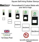 Square Self Inking Rubber Stamps - Eco Friendly - Custom, Personalised, Bespoke