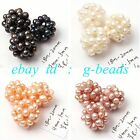 4-5mm Freshwater Pearl Handmade Intertexture Ball Beads Free Shipping 18- 20mm