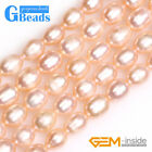 "7-8mm Natural Gemstone Freshwater Pearl Rice Beads For Jewelry Making 15""Strand"