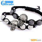 "Fashion Jewelry Easter Vintage Skull Style Bracelet Adjustable Size 6""-8"""
