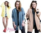 Ladies Knit Cardigan Pockets One Size 14/16/18 ♥ MADE IN EU ♥ quick dispatch 475