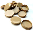 35MM LIGHT OAK PLASTIC HINGE HOLE COVER CAPS FOR KITCHEN CABINET CUPBOARD DOORS