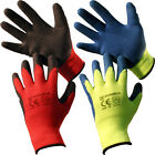 12 PAIRS MENS LARGE WINTER THERMAL WORK GLOVES LATEX COATING GARDENING BUILDERS