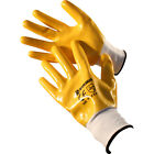 12 PAIRS MENS PVC WORK GLOVES POLYESTER SHELL NITRILE COATING GARDENING BUILDERS