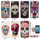 New Skull Hybrid Hard Rigid Plastic Back Case Cover Skin For iPhone 5C