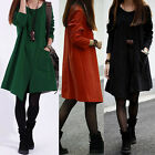 Hot Women Long Trench Jacket Long Sleeve Coat Outwear Tops Winter Dress M L XL