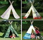 Wigwam Teepee Play Tent.  Indoor / Outdoor Boys and Girls Canvas playtents, den