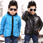NEW Winter Boys Girls Coat Kid Cotton Velvet Thicken Jacket 2-7Y Outerwear BC018