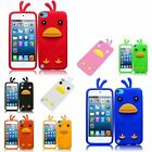 For Apple Ipod Touch 5 Funny Duck Silicone Skin Phone Case Cover