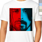 DAVE VS KURT T-Shirt. Grohl / Cobain Face Mash  Up, Nirvana, Foo Fighers, Grunge