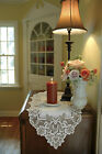 """Table Runner 14"""" x 44"""" in Heirloom Pattern - Colors: Ecru and White"""