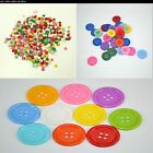 Retro 2 Hole Flat Round, 4 Hole Clown Resin Buttons. 11mm, 15mm, 27mm. UK SELLER