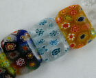 Millefiori Glass 2Holes Spacers Fit Bracelet 6style-1 P434