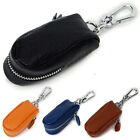 Cool men women's Real Genuine Leather Key Chains Rings Case Car Key holder bag