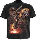 SPIRAL DIRECT Hell Rider Kids/Boys/Child T-shirt/Top biker/heavy metal/skeleton