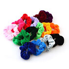 Girls Womens Velvet Hair Scrunchie Elastic Choice Of 15 Colours