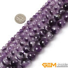 Natural Round Dream Lace Amethyst Jewelry Making loose gemstone beads strand 15""