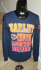 "NEW WOMEN'S HARLEY DAVIDSON SHIRT LONG SLEEVE ""HARLEY NEVER LOOKED BETTER"" BLUE"