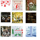 Art Home Colourful Removable Christmas series shopwindow Decor Wall Sticker