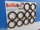 Wooden Curtain Rings in Antique Walnut Colour - Dark Brown Wood - Dark Oak