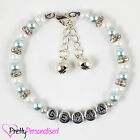 Girls Personalised Jingle Bells Charm Bracelet Jewellery Gift Stocking Filler