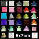 10, 50 or 100 Organza Bags / Jewellery Pouches - 5x7cm Various Colours UK