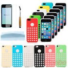 New Colorful Slim Back Case Cover For iPhone 5C+Free Touch Pen&Screen Protector