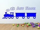 Train wall sticker with Personalised boys name for bedroom wall