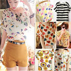 Fashion Womens Summer Loose T-shirt Chiffon Batwing Dolman Casual Tops Blouse