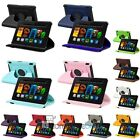 """360 Degree Rotating PU Leather Case Stand For Amazon Kindle Fire HDX 7"""" Tablet"""