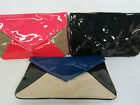 Bulaggi Patent  Clutch - 32415 - Black or Red or Blue