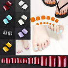 500pcs French Style Acrylic False Nail Art Toe Tips DIY Toe Nail DIY Decoration