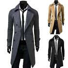 Winter Warm Elegant Slim Double Breasted Mens Coat Jacket Outerwear Overcoat J