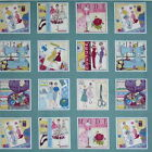 LABELS - MAKOWER SEW RETRO - 100% COTTON FABRIC PATCHWORK FASHION CRAFTS
