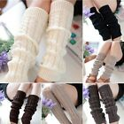 Korean Women Lady Winter Knitted Crochet Socks Leg Boots Warmer Cover Leggings