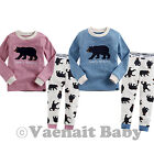 "2Pcs NWT Vaenait Baby Toddler Girl Boy Clothes Sleepwear Pyjama Set ""Funny Bear"""