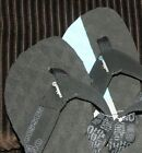 Cobian Mens On A Mission Flip Flop, Black & Grey With Sweet Footbed 4 Grip!