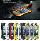 LOVE MEI Aluminum Metal Shock/Water Proof Case Gorilla Glass for iphone 5 5S 5G