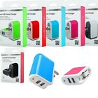 Universal Wall Travel Adapter Power Charger Dual USB Mobile Cell Phone Tablet