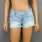 NWT ABERCROMBIE & FITCH ANF WOMENS SHINE POLKA DOT DENIM JEANS SHORTS
