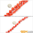 """Natural Cube Pink Coral Jewelry Making loose gemstone beads strand 15"""" yao-bye"""