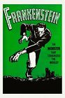Frankenstein The Monster That Terrorized the World Vintage Poster Repro FREE S/H