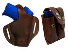 NEW Barsony Brown Leather Pancake Holster+Dbl Mag Pouch Bersa Star Comp 9mm 40