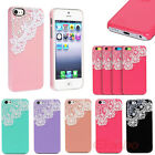 Fashion Style Hand Made Laces Pearls Hard Back Case Cover Shell For iPhone 5C