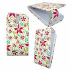 WHITE CASE RED AND GREEN FLOWERS FLIP PU LEATHER CASE FOR SAMSUNG GALAXY S4 MINI