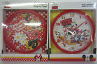 Disney Wall Clocks Minnie Mouse/Mickey Mouse
